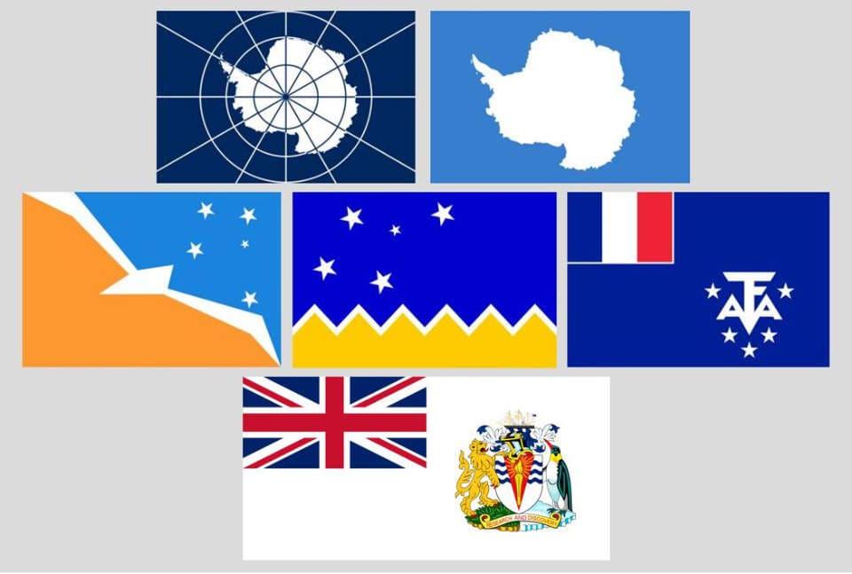 Welches ist die Flagge der Antarktis? Die Antwort hängt meist noch davon ab, wen man fragt. Bisherige Antwortmöglichkeiten umfassen unter anderem das Logo des Antarktis-Vertrages, das Graham Bartram Emoji, die Flagge der Region Tierra del Fuego und Argentinischen Antarktis, diejenige der Magallanes Region und Chilenischen Antarktis, der Französischen Süd- und Antarktisgebiete, des Britischen Antarktis-Territoriums.