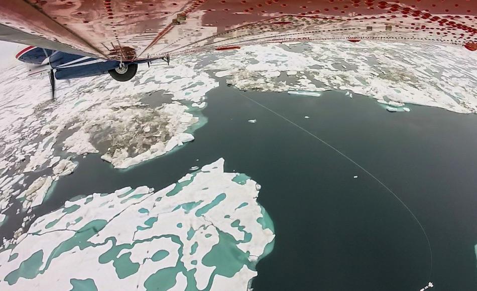 Das Flugzeug des AWI wurde benutzt, um die Meereisdicke mit Hilfe von Radar zu messen. Bild: E. Horvath